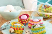 Április modellje: Horgolt tojástartók húsvétra