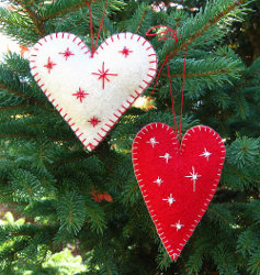heart ornaments step 4