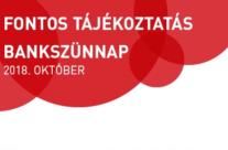 Bankszünet október 24-29-ig!